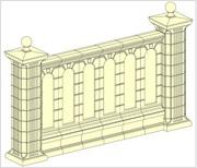 Забор,  огорожа,  секції