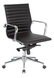 Офисное кресло Алабама,  средняя спинка,  цвет черный