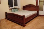 Кровать двоспальная МЕРКС деревянная