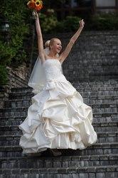 Шикарное свадебное платье размер S-M