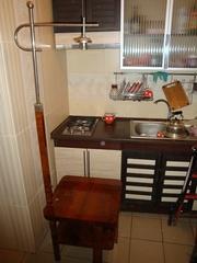 Старинный торшер столик в стиле арт деко