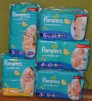 Підгузники Pampers Active Baby-dry. Всі розміри.