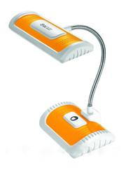 Настольная лампа светильник с аккумулятором оранжевая.