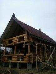 Будуємо будинки з дикого зрубу (необробленої колоди сосни) від 10 000