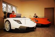 Стол в виде суперкара Lamborghini   ярко-оранжевый Lamborghini Murciel