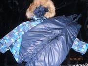 фирменный теплый комплект (полу-комбинезон куртка)