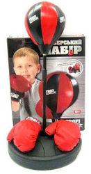 Детский боксерский спортивный набор с регулируемой стойкой (боксерская