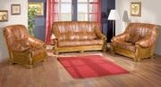 Ужгород Диваны кожаные с ручной резьбой. Каркас дивана изготовлен из м