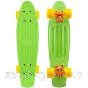 Скейтборд  зеленый (Пенни борд) 6 цветов (лонгборд)