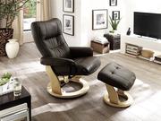 Рівне Крісло для відпочинку з функцією Relax натуральне для Каркаса де