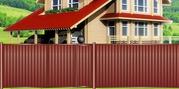 Ворота въездные из профнастила в Днепропетровске