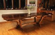 Ужгород мебель из массива ценных пород красного дерева. Столы из слэбо