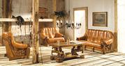 Комплект шкіряних диванів meble-рука на масивних дубових каркасах  Оде