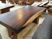Слеби - столи з коштовних порід дерева. купити столи із слеба і стекол